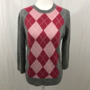 J. Crew Argyle Sweater, Size Medium